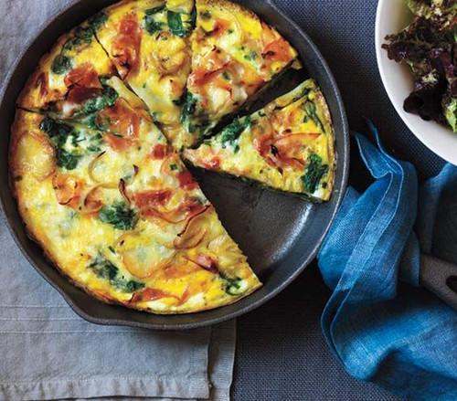 Potato, Ham, and Spinach Frittata - (Free Recipe below)