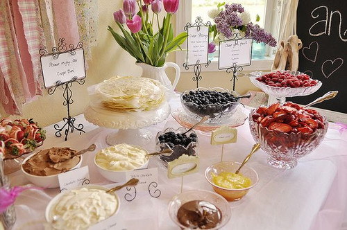 Crepe Bar Display