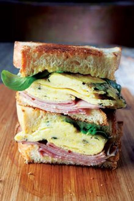 Ham, Cheese, Egg, and Lemon Sandwich - (Free Recipe below)