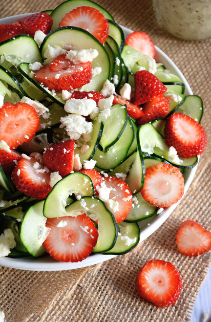 Cucumber and Strawberry Poppyseed Salad - (Free Recipe below)