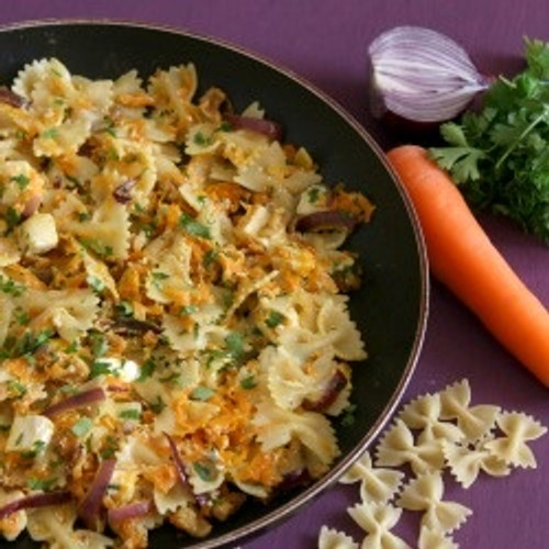 Creamy Brie and Carrot Pasta - (Free Recipe below)