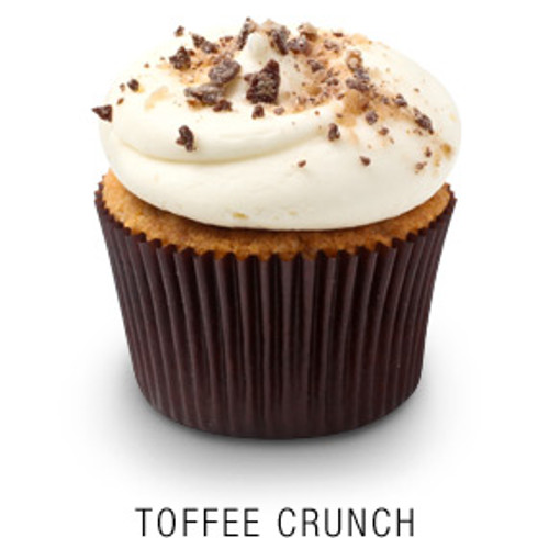 Toffee Crunch Cupcakes - One Dozen