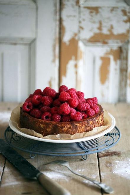 Raspberry Cheesecake with Grand Marnier - (Free Recipe below)