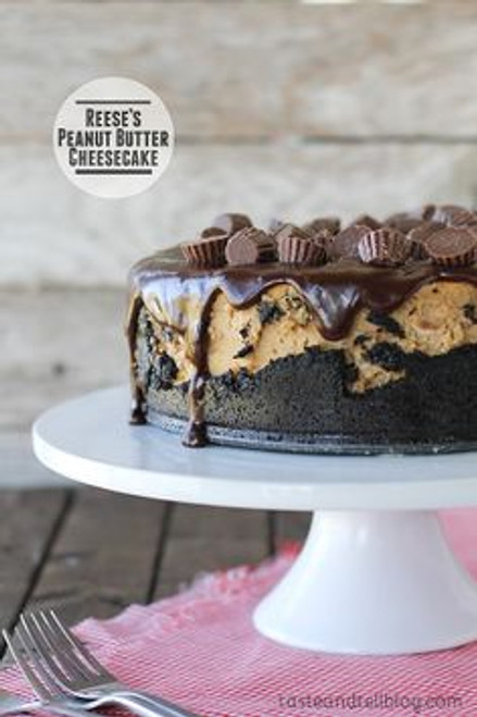 Reese's Peanut Butter Cheesecake - (Free Recipe below)