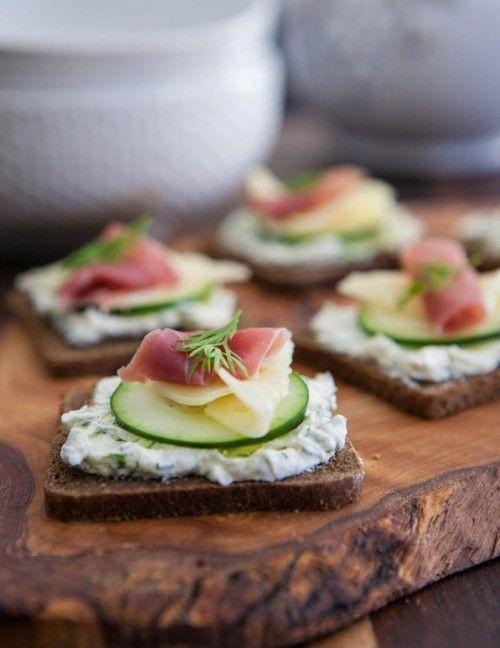 Prosciutto, Jarlsberg Swiss and Cucumber Appetizer - (Free Recipe below)