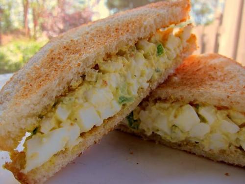 Spiced Masters Egg Salad Sandwich - (Free Recipe below)