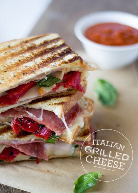 Italian Grilled Cheese Sandwich - (Free Recipe below)