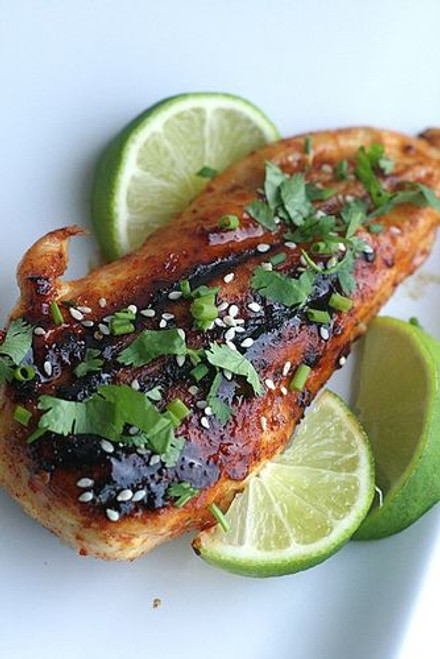 Honey Chipotle Glazed Chicken - (Free Recipe below)