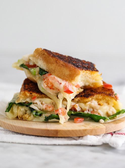 Kennebunkport Lobster Grilled Cheese Sandwich  - (Free Recipe below)