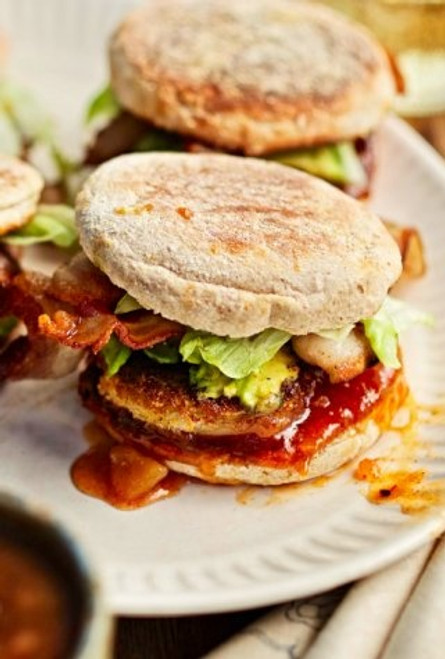 Fried Green Tomato with Bacon and Chutney Sandwich - (Free Recipe below)