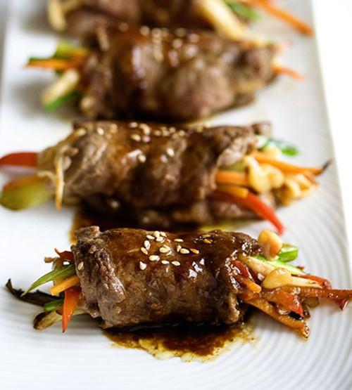 Balsamic Glazed Steak Rolls - (Free Recipe below)