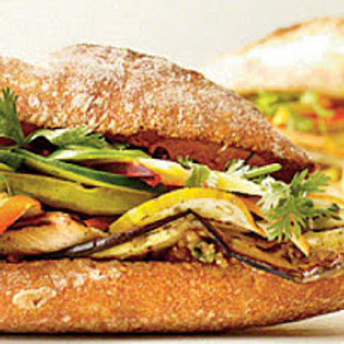 Grilled Eggplant Banh Mi Sandwich - (Free Recipe below)