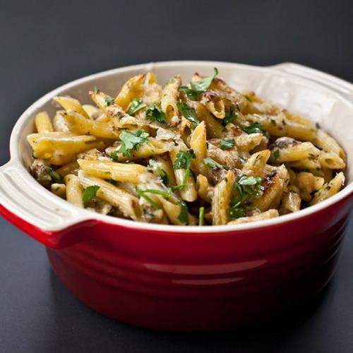 Ziti, Eggplant, and Fontina Gratin Pasta - (Free Recipe below)