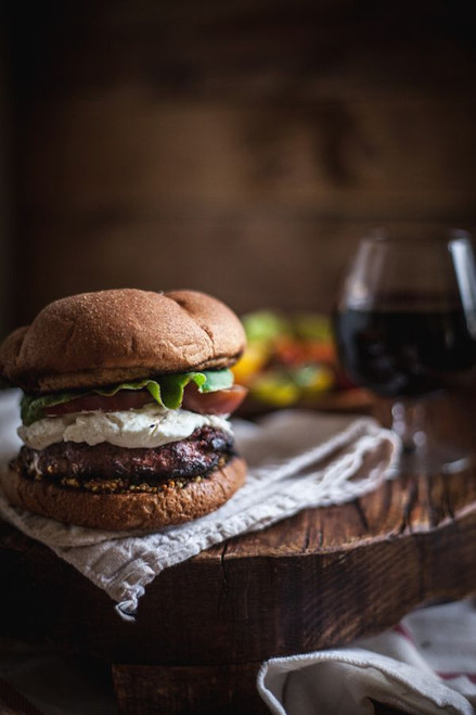 Red Wine and Mushroom Burgers with Goat Cheese - (Free Recipe below)