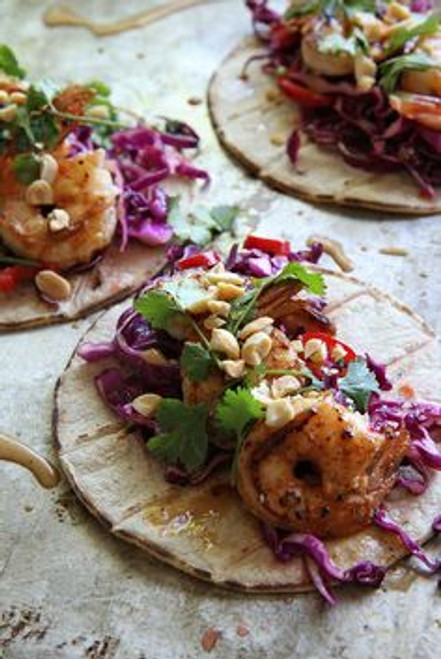 Thai Shrimp Tacos - (Free Recipe below)