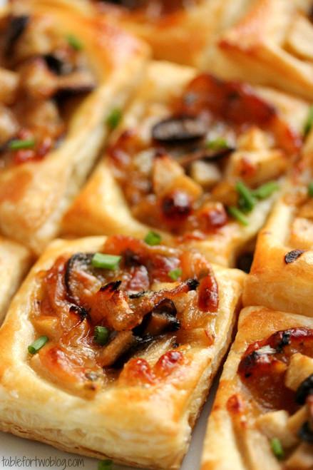 Caramelized Onion, Mushroom, Apple & Gruyere Bites - (Free Recipe below)