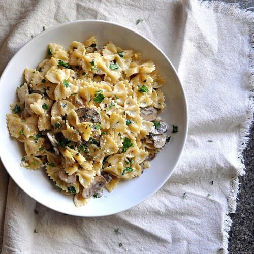 Pasta With Caramelized Onions, Mushrooms, and Gruyere - (Free Recipe below)