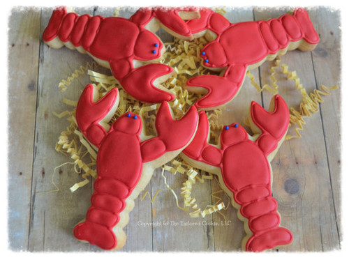 Lobster Nautical Shortbread Sugar Cookies - One Dozen