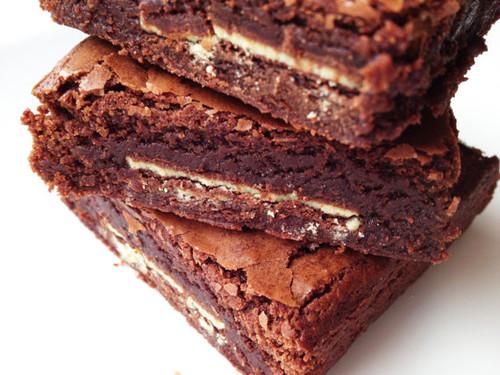 Chocolate Mint Gourmet Brownies - One Dozen