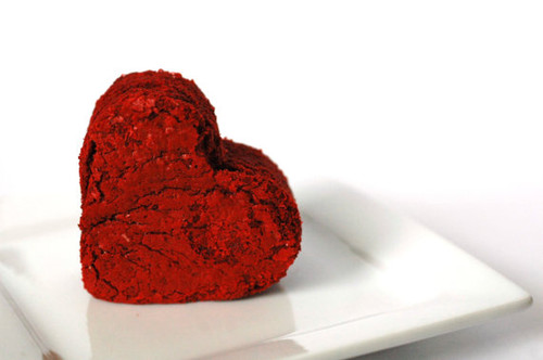 Heart Shaped Red Velvet Brownies - One Dozen