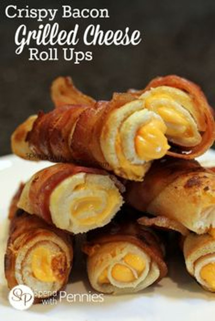Crispy Bacon Grilled Cheese Roll Ups - (Free Recipe below)