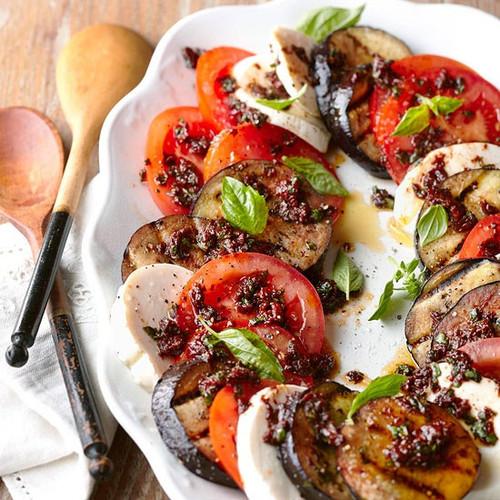 Eggplant Caprese Salad - (Free Recipe below)