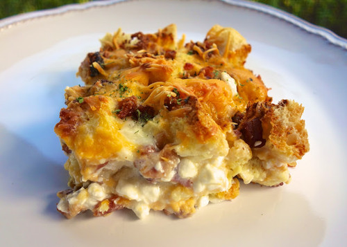 Cheesy Bacon Breakfast Casserole - (Free Recipe below)