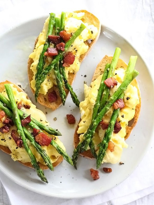 Scrambled Egg and Roasted Asparagus Toasts - (Free Recipe below)