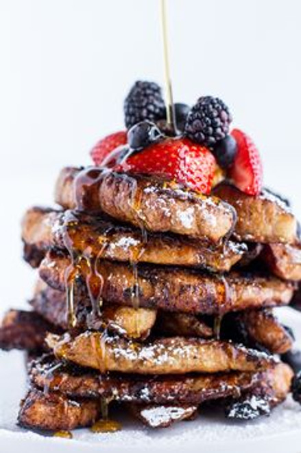 Coffee Caramelized Croissant French Toast Sticks - (Free Recipe below)