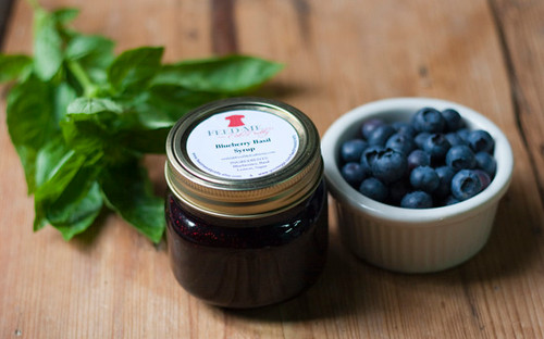 Blueberry Basil Syrup