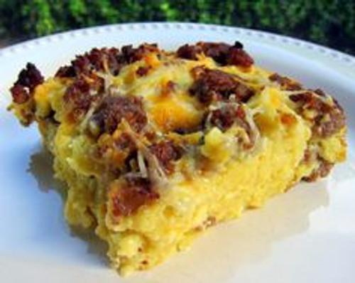Maple Sausage and Waffle Casserole - (Free Recipe below)