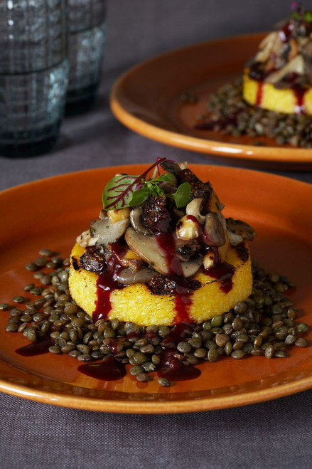 Polenta with Wild Mushrooms, Hazelnuts and Figs - (Free Recipe below)