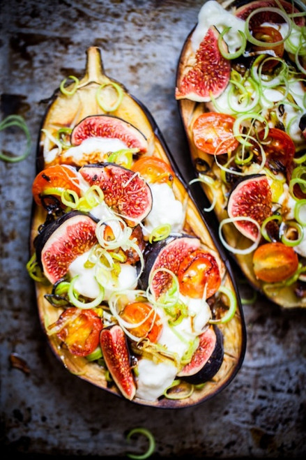 Eggplant Pizza with Figs and Leeks - (Free Recipe below)
