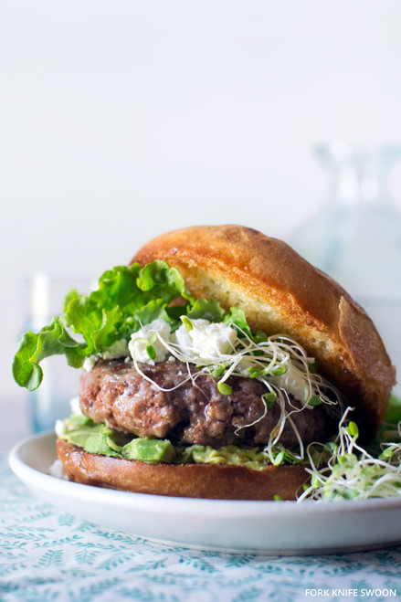 Lamb Burgers with Goat Cheese and Avocado - (Free Recipe below)