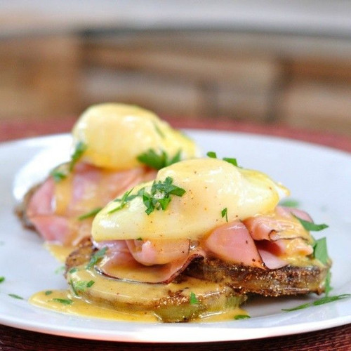 Fried Green Tomato Eggs Benedict - (Free Recipe below)