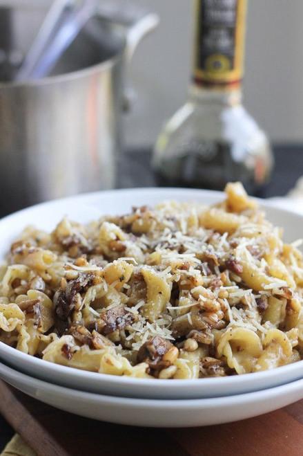 Roasted Garlic, PIne Nuts Balsamic Pasta - (Free Recipe below)
