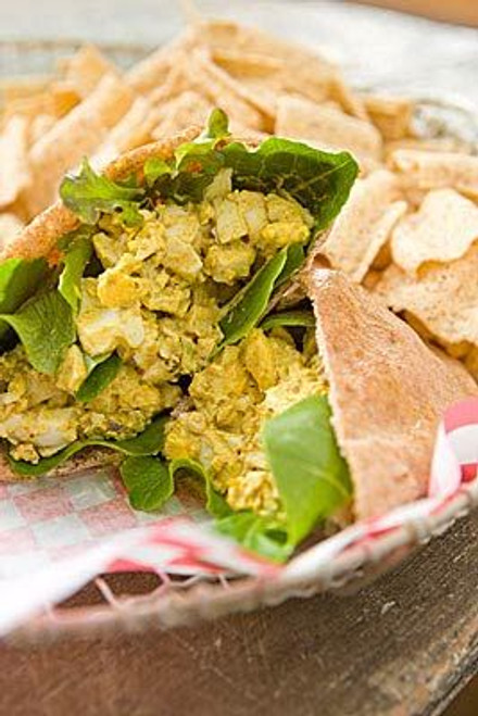 Curried Egg Salad Sandwiches with Pistachios and Arugula - (Free Recipe below)