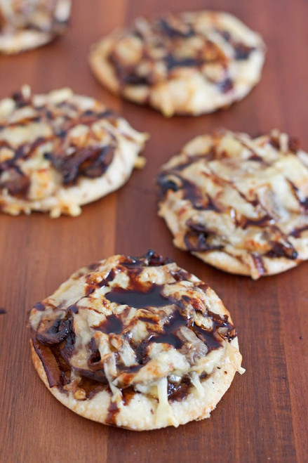 Guinness Caramelized Onion & Mushroom Pizzettes - (Free Recipe below)