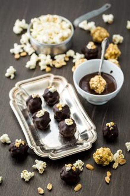Chocolate Peanut Butter Popcorn Truffles - 2 Dozen