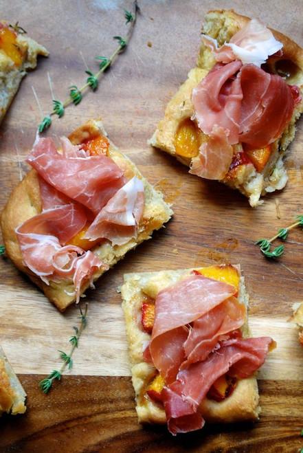 Roasted Peach Focaccia - (Free Recipe below)