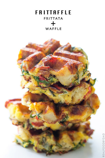 Frittaffle  - Waflle and Frittata together - (Free Recipe below)