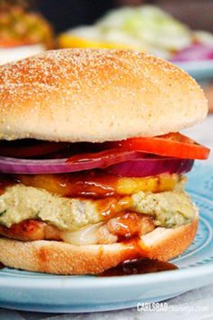 Teriyaki Pineapple Chicken Sandwiches with Honey Cotija Avocado Spread - (Free Recipe below)