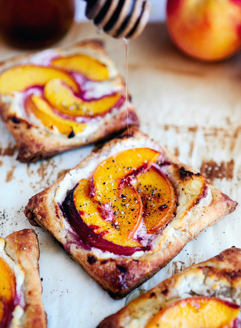 Peach Tarts with Goat Cheese and Honey - (Free Recipe below)