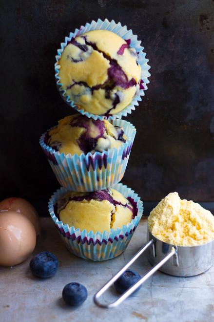 Blueberry Cornbread Muffins - (Free Recipe below)