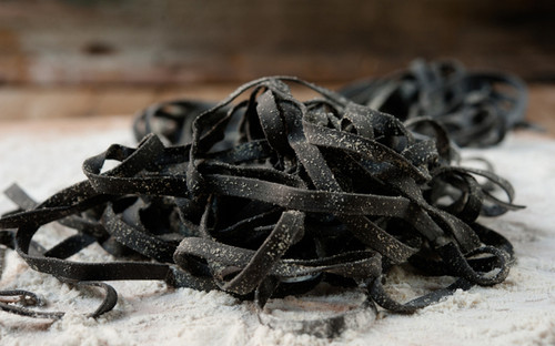 Squid Ink Fettuccine - Fresh Pasta - One Pound