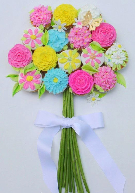 Cupcake Flower Bouquet - 12 included
