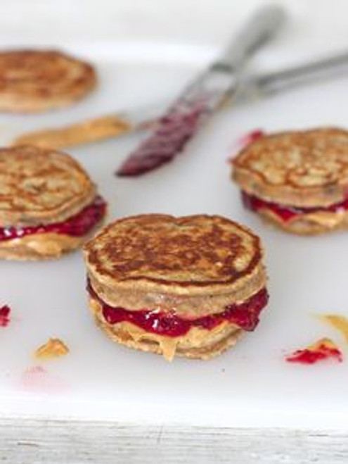 Peanut Butter and Jelly Pancake Sandwiches - (Free Recipe below)