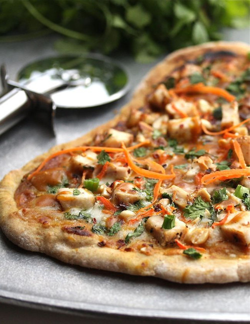 Thai Peanut and Chicken Flatbread - (Free Recipe below)