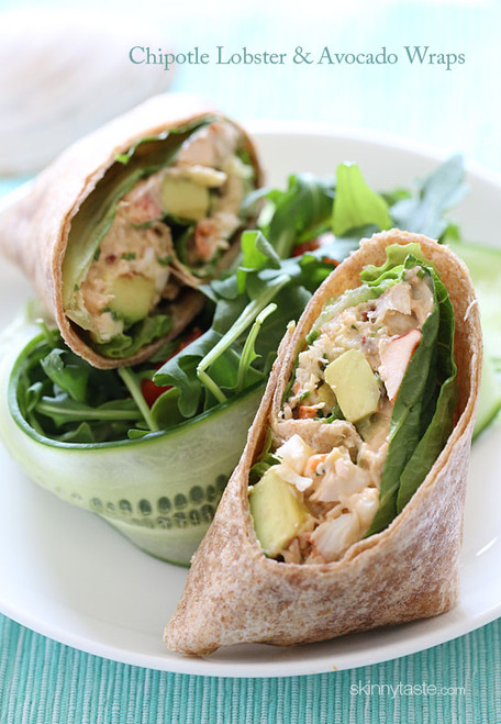 Chipotle Lobster Avocado Wrap - (Free Recipe below)
