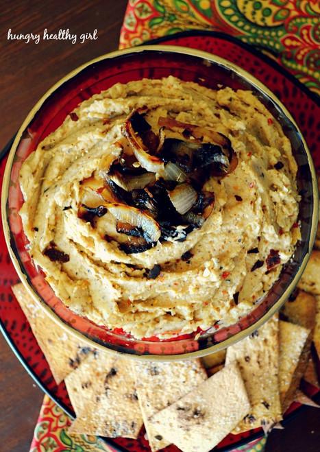 Caramelized Onion Hummus - (Free Recipe below)
